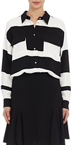 Lanvin Women's Striped Utility Blouse