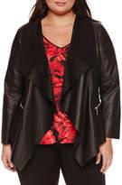 Bisou Bisou Drape Front Jacket - Plus