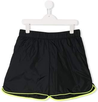 Balmain Kids TEEN contrast piping swim shorts