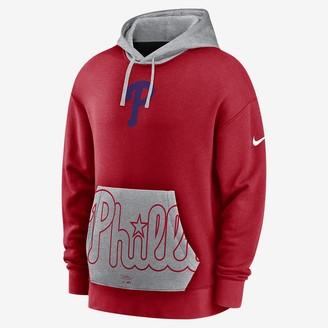 Nike Men's Pullover Hoodie Crop Pocket Heritage (MLB Houston Astros)
