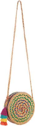 Shiraleah Women's Crossbodies MULTI - Green & Blue Tassel Mirabel Round Crossbody Bag
