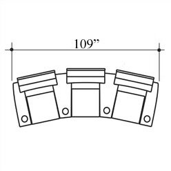 Bass Showtime Home Theater Lounger (Row of 3