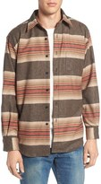 Pendleton Men's Lodge Trim Fit Stripe Wool Shirt