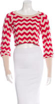 ALICE by Temperley Cropped Knit Top