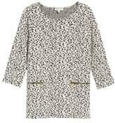 Chaus Zip Pocket Leopard Print Sweater
