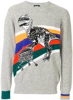 Diesel T-rex knitted jumper