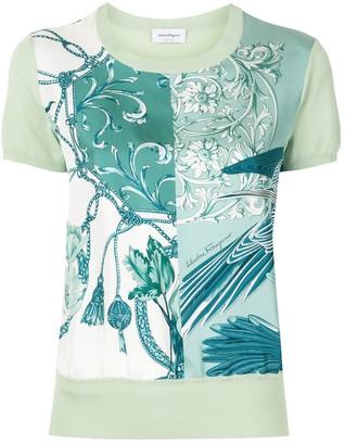 Salvatore Ferragamo short sleeved printed T-shirt