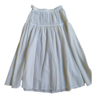 Rodier White Cotton Skirt for Women Vintage