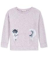 Jessica Simpson Dog Graphic Pullover Sweatshirt, Big Girls (7-16)