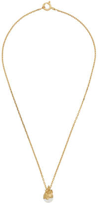 Alan Crocetti Gold Pearl In Heat Necklace