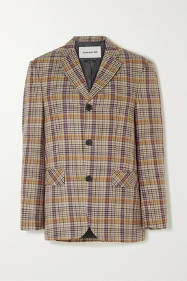 ANDERSSON BELL Rome Checked Twill Blazer - Beige