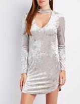 Charlotte Russe Velvet Choker Neck Bodycon Dress