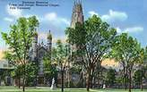 New Haven, CT - View of Harkness Memorial Tower, Dwight Chapel, Yale U (16x24 Collectible Giclee Gallery Print, Wall Decor Travel Poster)