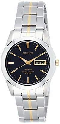Seiko Gents Two Tone Quartz/Battery Watch on Stainless Steel Bracelet, with Sapphire Glass, Day & Date SGGA61P1.
