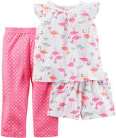 Carter's 3-pc. Flamingo Pajama Set - Baby Girls newborn-24m