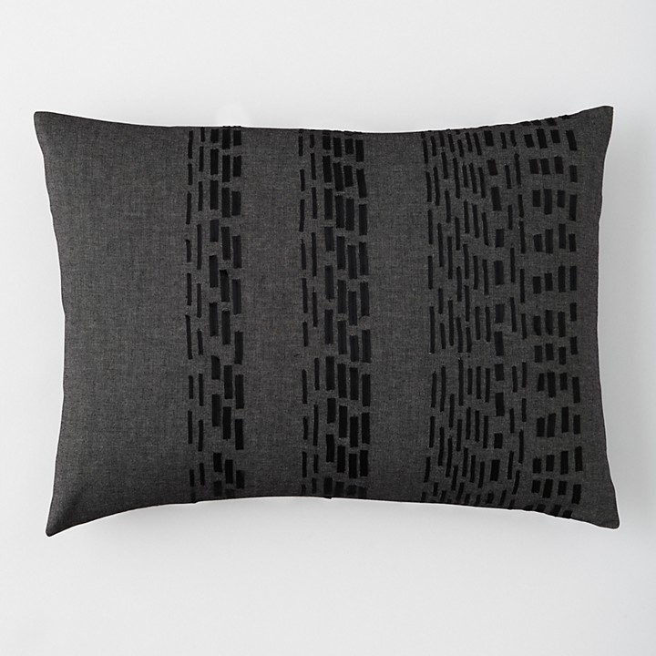 "Vera Wang Pom Pom Ribbon Pillow, 15"" x 20"""