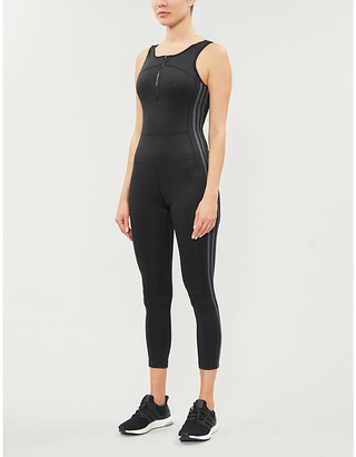 adidas Full length stretch-jersey jumpsuit