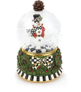 Mackenzie Childs Snowman Snow Globe
