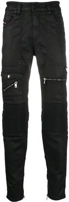 Diesel D-Derrot coated slim-fit jeans