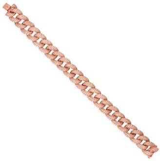 Sydney Evan 14K Rose Gold & Diamond Pave Large Link Bracelet