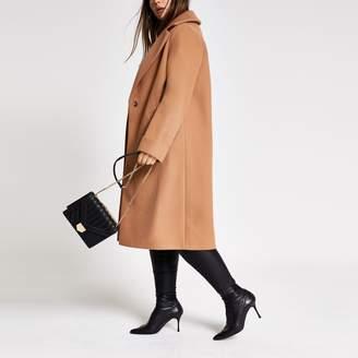 River Island Womens Plus Beige longline coat