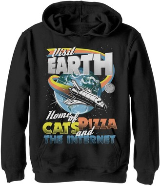 Fifth Sun Boys 8-20 Earth Vacation Graphic Hoodie