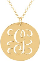 14K Gold-Plated Sterling Personalized Initial Script Pendant