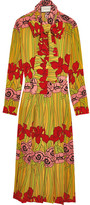 Gucci Floral-print Silk Crepe De Chine Dress - Red
