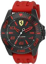Ferrari Scuderia Men's 'XX Kers' Quartz Stainless Steel and Silicone Casual Watch, Color:Red (Model: 0830308)