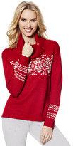 New York & Co. Split-Neck Fair Isle Sweater