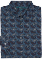 Perry Ellis Slim Fit Etched Paisley Shirt