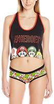 Nintendo Women's Crop Top and Hipster Set