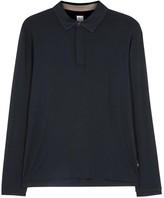 Armani Collezioni Navy Jersey Polo Shirt