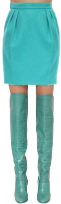 Max Mara Mohair Blend Boucle Mini Skirt