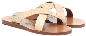 Givenchy Logo leather sandals