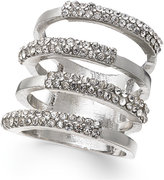 INC International Concepts Silver-Tone Four Open Row Pavé Ring, Only at Macy's