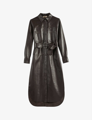 Ted Baker Bowsiey leather midi dress
