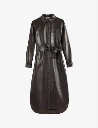 Ted Baker Bowsiey leather midi dress