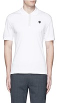 Alexander McQueen Logo stud placket polo shirt