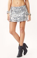 Blu Moon exclusive gunmetal sequin skirt
