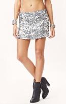 Blu Moon exclusive gunmetal sequin skirt