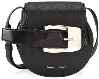 Proenza Schouler Mini Buckle Leather Saddle Bag