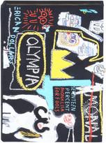 Olympia Le-Tan Olympia Le Tan Basquiat Crown Hotel Artwork Book Clutch Bag