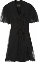 Simone Rocha Tulle and crepe wrap dress