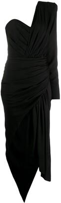 Alexandre Vauthier Asymmetric Draped Dress