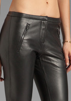 Trina Turk Soft Lamb Leather Stovepipe Pant