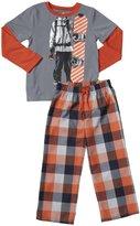 Petit Lem Snowboard 2 Piece PJ Set (Toddler/Kid) - Orange-3