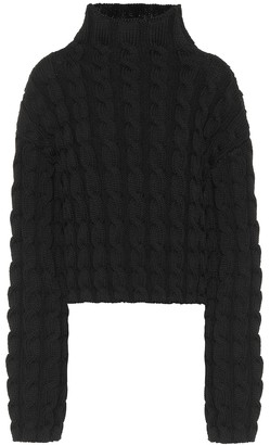 Balenciaga Cable-knit turtleneck sweater