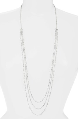 CRISTABELLE Crystal Multistrand Mix Media Necklace