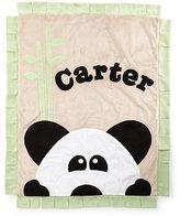 Boogie Baby Plush Peek-A-Boo Panda Blanket, Green/Latte